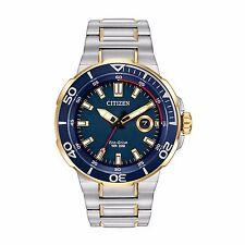 Citizen Eco-Drive Men's AW1424-54L Endeavor Blue Dial Two-Tone 45mm Watch