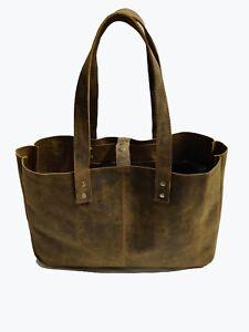 37c2ae2c21c5 Image is loading Vintage-Leather-Tote-Bag-women-Purse-Handbag-Shoulder-