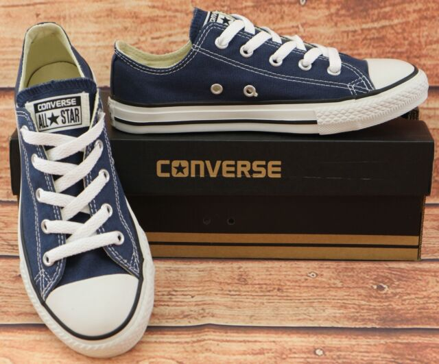 Converse All Star Chuck Taylor Unisex Youth Children s Trainers Size 1 Navy  Blue 47b6a143f