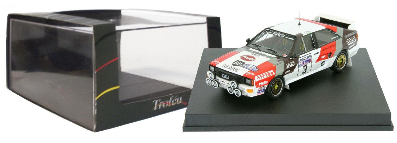 TROFEU 1609 AUDI QUATTRO #3 #3 #3 Winner Rac Rally 1983-Stig Blomqvist échelle 1/43 | Brillance De Couleur  a7e57c