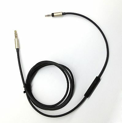 120cm Cable with volume Remote & Mic for iphone to Sennheiser Momentum headphone