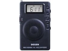 DEGEN DE215 Portable pocket  AM/FM Stereo Radio with Digital Tuning & DSP