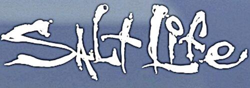 "Salt Life Signature /""WHITE/""  UV Rated Vinyl medium 12inch DECAL *FREE SHIPPING*"