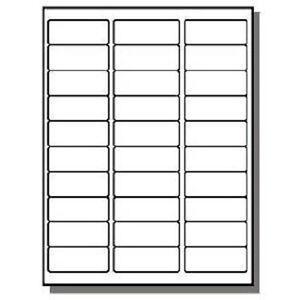 Address Labels 1 X 100 Sheets 30 UP Fit Sizes 5260 5520 5810 ETC ...