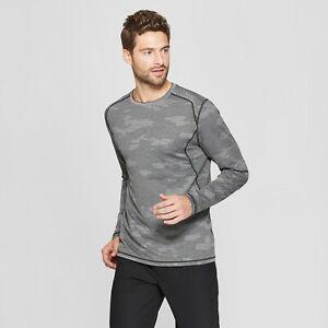 d13b0227 Men's Long Sleeve Camo Jacquard T-Shirt C9 Champion Asphault Gray ...