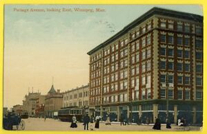 cpa-Post-Card-vers-1910-CANADA-Portage-Avenue-Looking-East-WINNIPEG-MAN