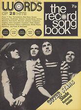 Slade on Record Song Book Magazine Cover March 1972    Elton John    Bob Dylan