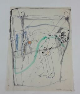 Acaso Ocaso. Technique Mixte Sur Papier. Albert Gonzalo CarbÓ. 1999.