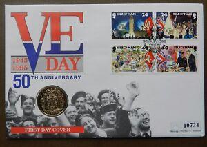 Moneda-QEII-Isla-de-Man-PNC-Cubierta-1995-ve-dia-50TH-aniversario-2-moneda