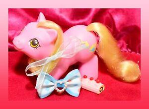 ❤️My Little Pony MLP G1 Vtg Newborn Baby Tappy Yellow Blue Trainers 1987❤️
