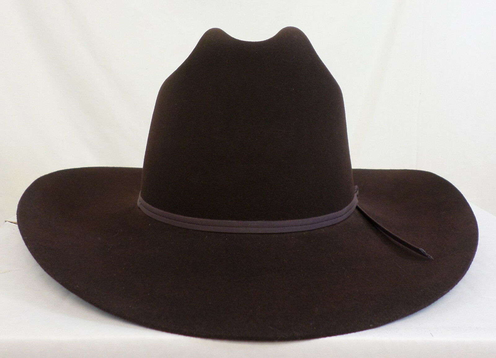 Reed Hill Western Hat Chocolate Brown Fur Blend 67 8  - Made in USA