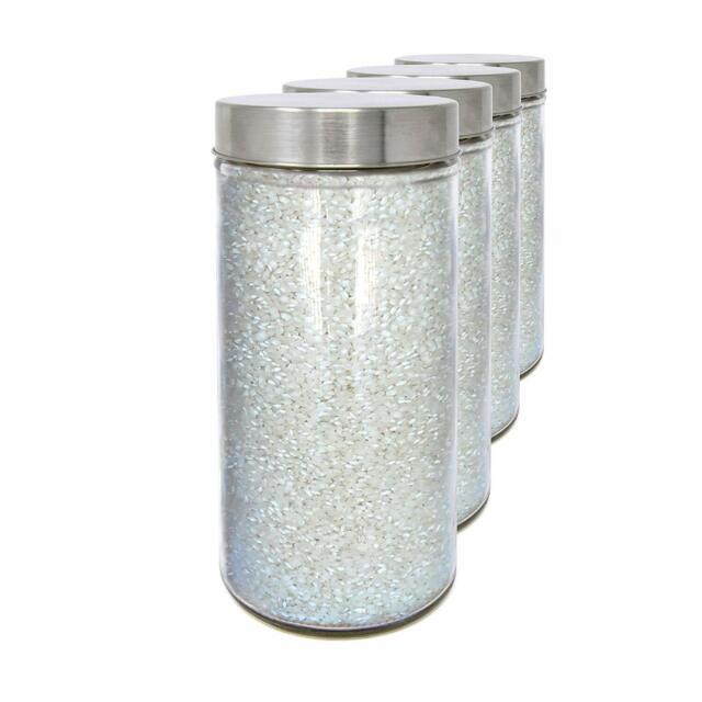 11,5x10 cm Set 2 Vorratsdosen aus Glas mit Schraubverschluss. 0,48 L