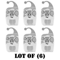 Lot Of (6) Pyle Psr6 Digital Waterproof Hanging Shower Am/fm Radio Clock