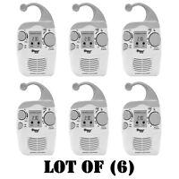 Lot Of (6) Pyle Psr6 Digital Waterproof Hanging Shower Am/fm Radio Clock