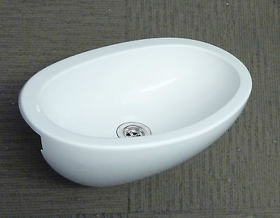 Bathroom White Plastic Oval Vanity Sink