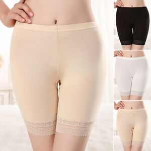 Women-Safety-Briefs-Panties-Seamless-Lace-Solid-Color-Underwear-Short-Pants