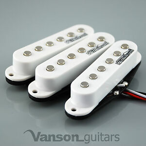 new set of wilkinson hot single coil pickups for strat guitars white mwhs 5060479554638 ebay. Black Bedroom Furniture Sets. Home Design Ideas