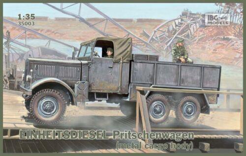 IBG 1//35 EINHEITSDIESEL Pritschenwagen # 35003 Métal Cargo corps