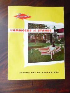 image is loading 1953 algoma    pany trumaid hammock yard furniture  1953 algoma    pany trumaid hammock yard furniture catalog      rh   ebay
