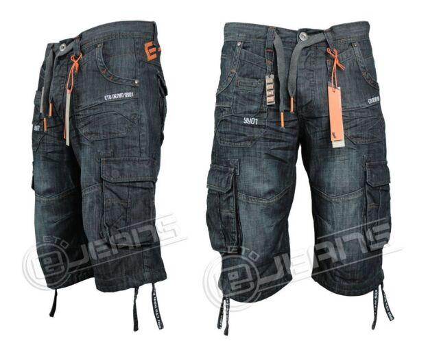 Nuovo di Zecca Pantaloncini Da Uomo ETO Lavaggio Scuro Pantaloncini di jeans estate prezzo di vendita £ 14.99