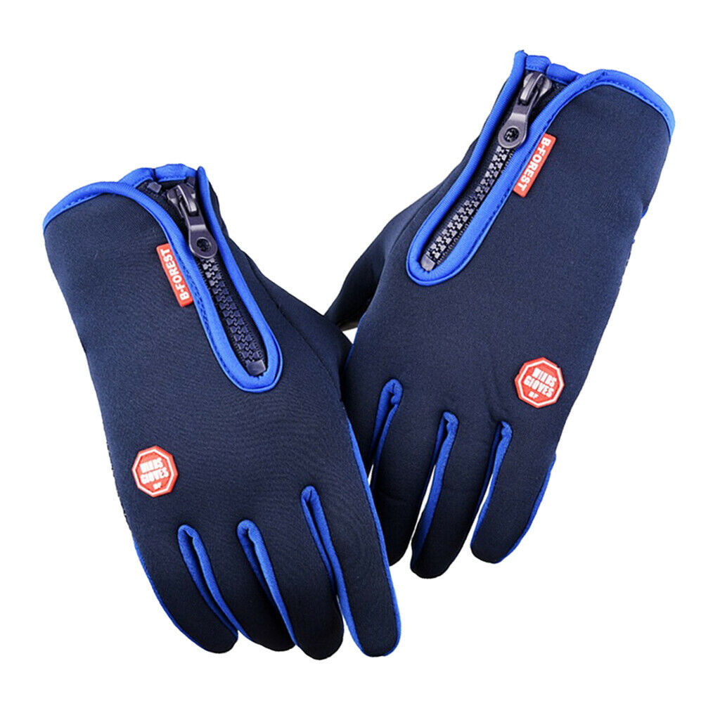 1 Pair Thermal Thickened Gloves Motorcycle Cycling Glove Touch Screen Mitten