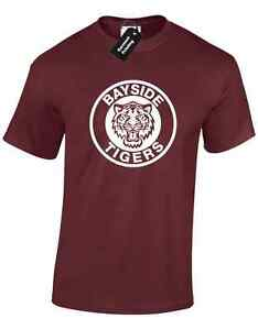 BAYSIDE TIGERS MENS T SHIRT TEE FOOTBALL DESIGN SAVED BY THE BELL RETRO TV NEW