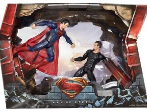 Sdcc 2013 Dc Man Of Steel Maîtres du film Superman Vs General Zod 2-pack Sounds !!