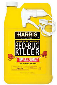Harris Bed Bug Spray HARRIS BED BUG KILLER SPRAY GEL 1 GALLON HBB-128 | eBay