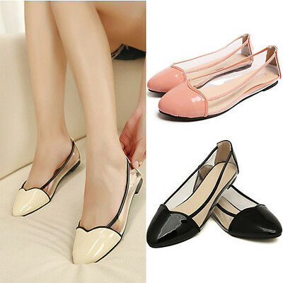 Summer Spring Unique Style Transparent Film Splice Women Girls Casual Flat Shoes