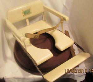 Vintage Little Toidey Wooden Child Toilet Training Chair Seat Mid-Century USA