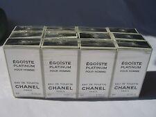 EGOISTE PLATINUM CHANEL 12 MINI Eau de TOILETTE 4 ml each ORIGINAL RARE VINTAGE