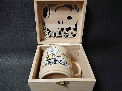 SNOOPY Colorful Peanut Mug Wooden Boxed Best Friends Gift Made in Japan