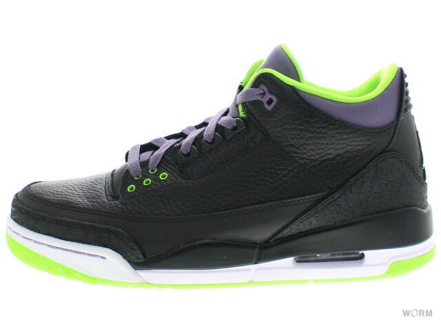 c041fac346 AIR JORDAN 3 RETRO black elctrc grn-cnyn 3 Size 8.5 136064-018 prpl-wht  ntalgh772-Athletic Shoes