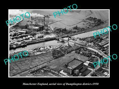 Other Historical Memorabilia Aerial View Of Dumplington C1950 Clear-Cut Texture Old Large Historic Photo Manchester England