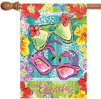 Toland - Aloha Sunglasses - Colorful Summer Shades Flower House Flag