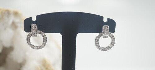 Schöne 925er Silber Ohrringe mit Zirkonia 2,20 Gramm