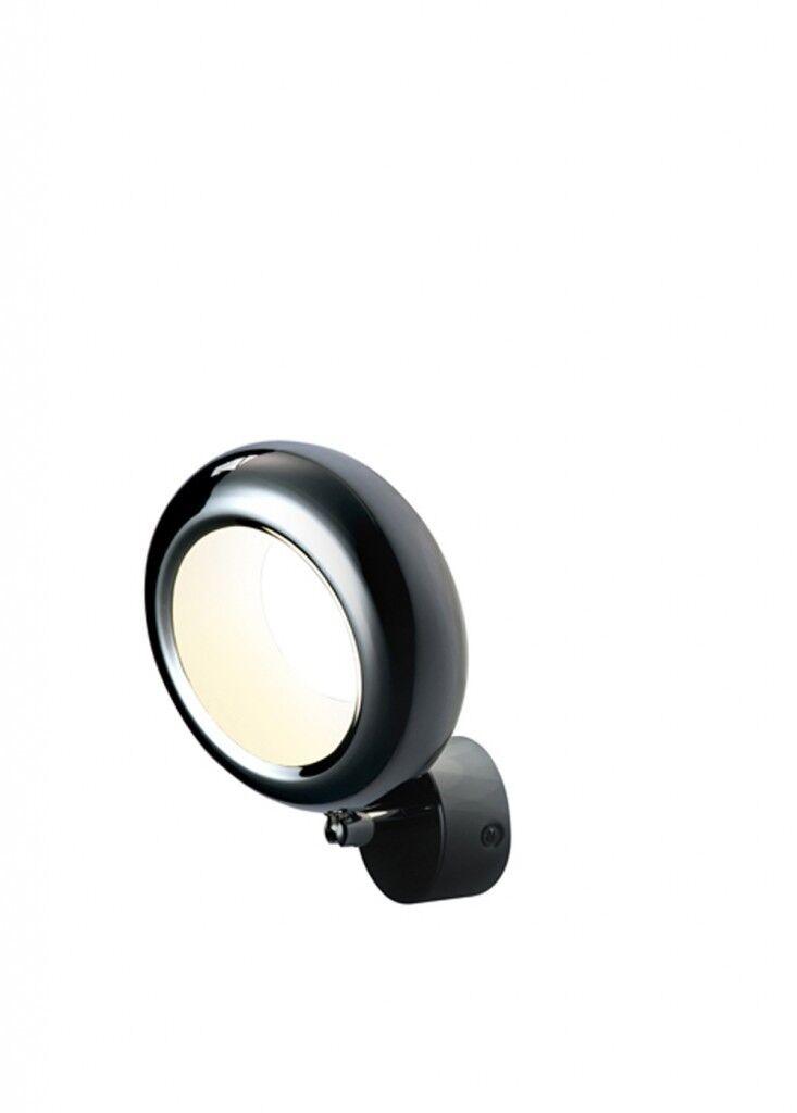 LED Wandleuchte rund weiß Aura Wall Effektleuchte Effektlampe Lichteffekt