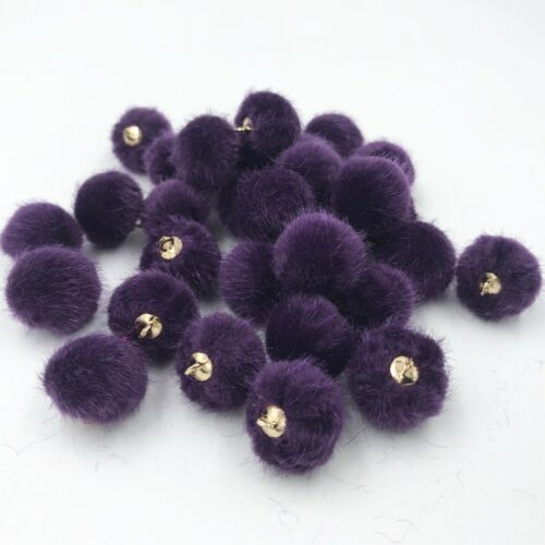 Mixed Soft Hairball Pendant DIY Earring Necklace Making Sewing Craft Accessories