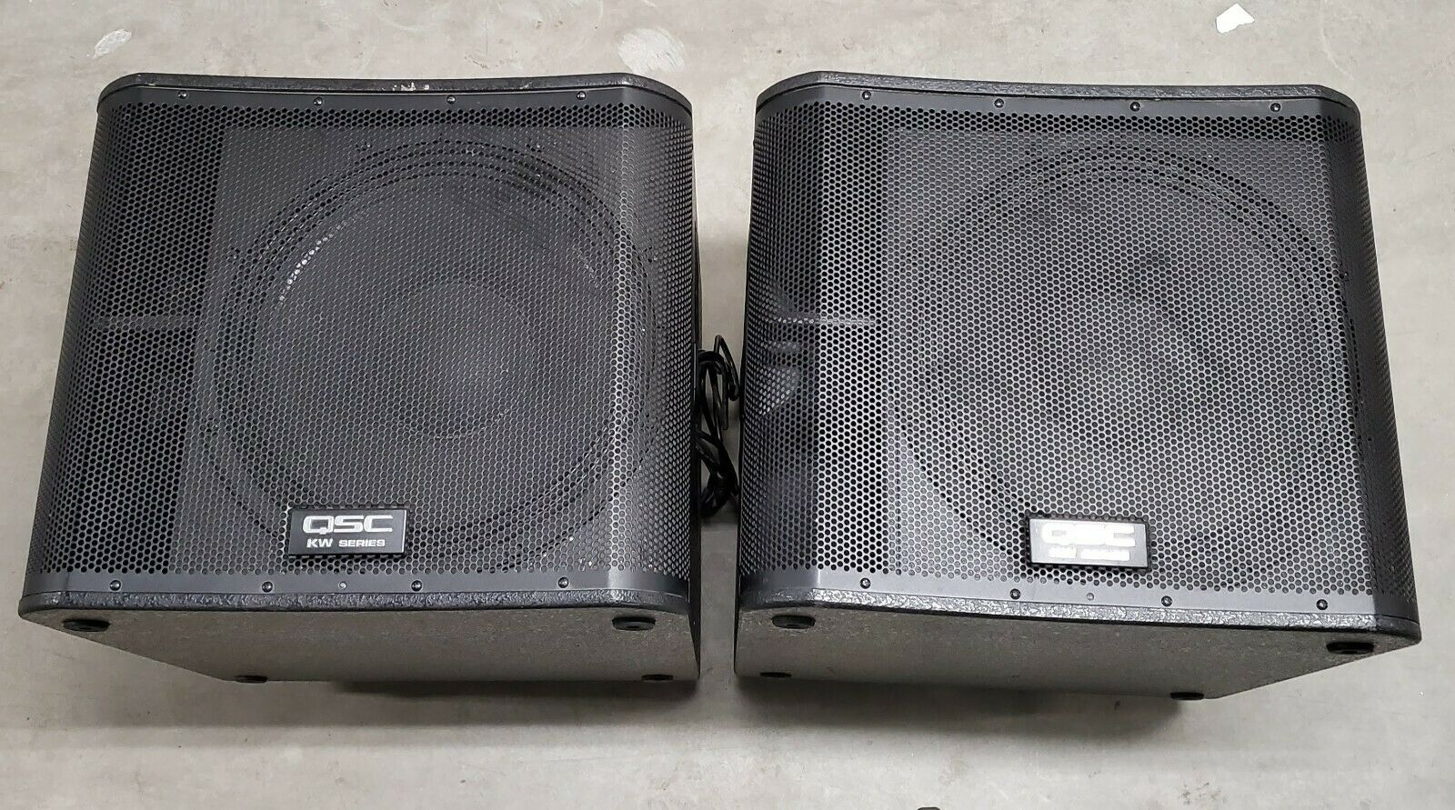 2 QSC KW181  1000 Watt SUBWOOFERS. Available Now for 2150.00