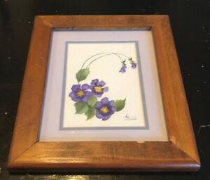 Lorraine Kidd Irish Artist - StillLife Watercolor - Flowers -Signed & Frame