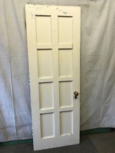 Wood Interior Door Bedroom 8 Panel Salvaged Architectural Vintage W/ Full Mirror   EBay