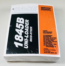 Case 1845b Uni Loader Skid Steer Service Repair Shop Manual Binder Ready New