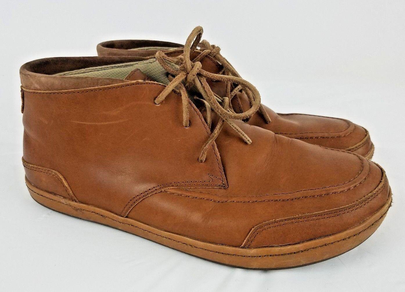 Olu Kai SKFD Pala Brown Soft Leather Chukka Ankle Boots Size 10