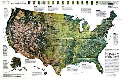 ⫸ 2006-10 The United States – 2006 National Geographic Map Poster School |  eBay