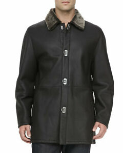 Salvatore Ferragamo Shearling Coat Jacket Size IT 50 / US 40 ($4995)