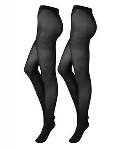 ec928a7a4 Naturally Close 2 Pack 40 Denier Opaque Black Tights - Size 16 - 20 ...