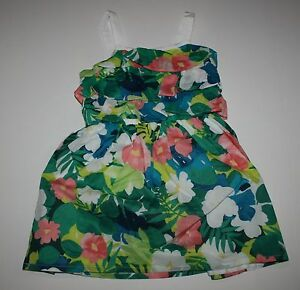 New Gymboree White Floral Lovebirds Print Dress 18-24m NWT Birds /& Dinos Line