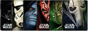 Star-Wars-Episode-I-through-VI-Blu-Ray-DVD-Steelbook-New-Movies-Choose-One