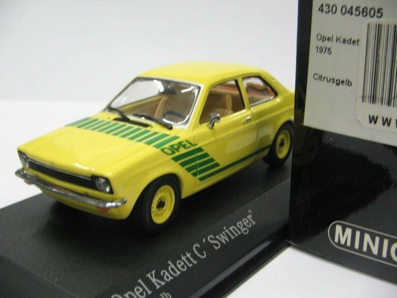 WOW EXTREMELY RARE Opel Kadett C 1.2S Swinger 1975 Yellow 1 43 Minichamps-Rekord