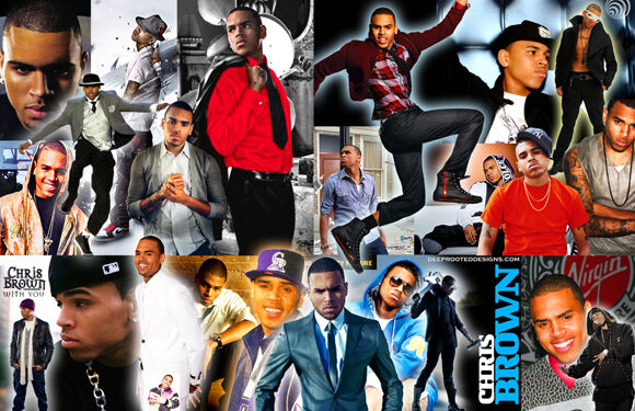 Chris Brown Collage Poster by Ebay Seller